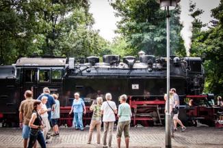 Alte Dampfloks im Harz: Bahnhof Drei-Annen-Hohne