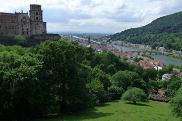 Immer wieder ein Highlight: Schlossterrasse in Heidelberg