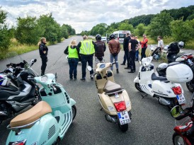 Perfektionstraining mit Motorrollern in Offenbach auf abgesperrtem Gelände